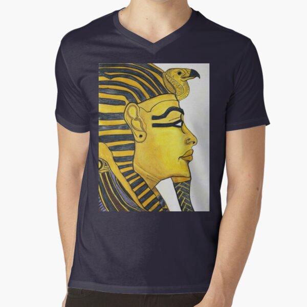 Mask of Gold Tee V-Neck T-Shirt