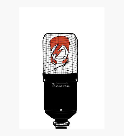 David Bowie: A Mic To Our Hearts Photographic Print