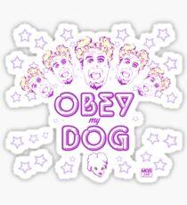 Obéissez mon chien Sticker