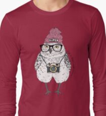 Owl hipster with photo camera T-Shirt