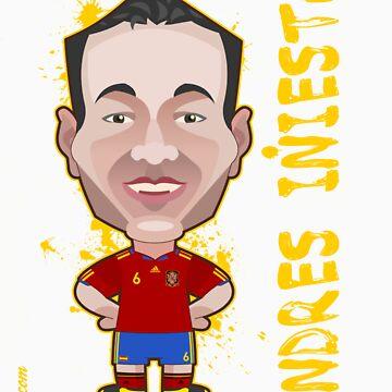 Andres Iniesta World Cup Spain by alexsantalo