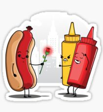 Hot Dog Romance Sticker