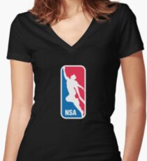 National Superhero Association Women's Fitted V-Neck T-Shirt