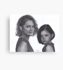 Kate and Lily Castle Canvas Print