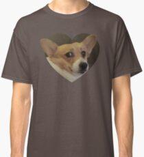 Camiseta clásica Pegatinas Doggo: Corg asustado