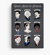 Great Minds of Science {Set} Canvas Print