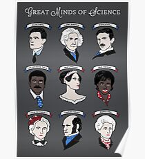 Great Minds of Science {Set} Poster