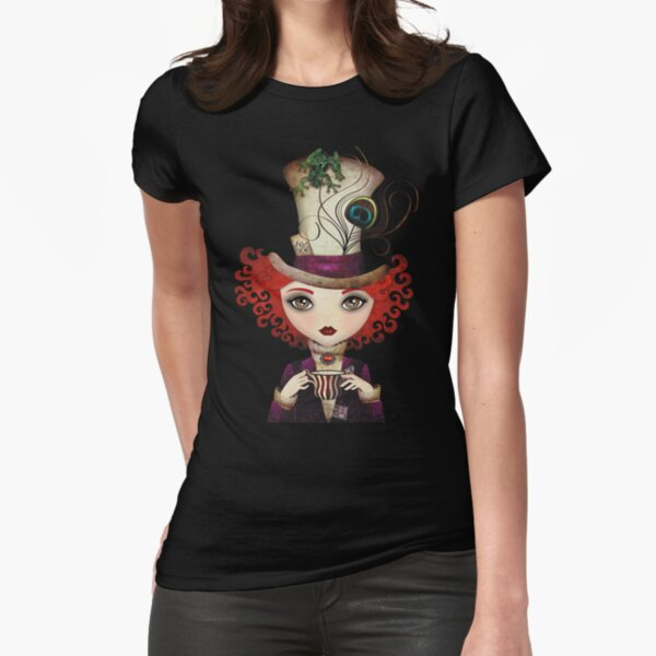 Lady Hatter Fitted T-Shirt