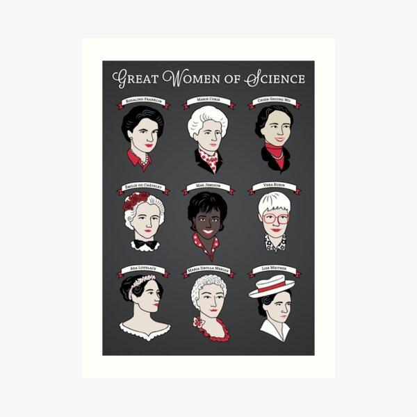 Grandes mujeres de la ciencia {Set} Lámina artística