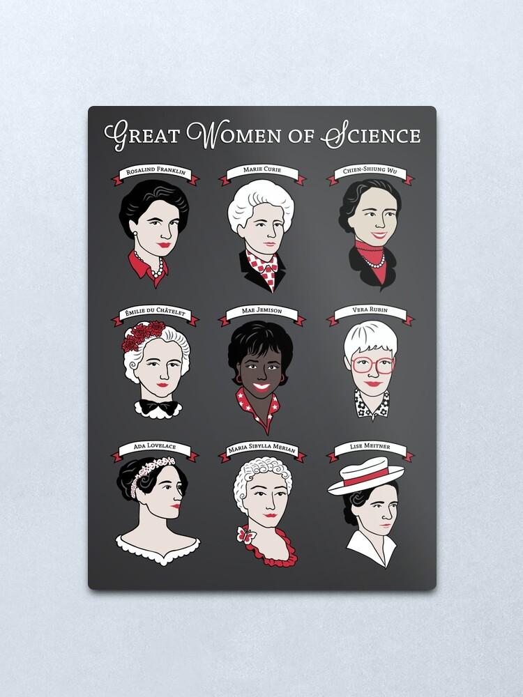 Alternate view of Great Women of Science {Set} Metal Print