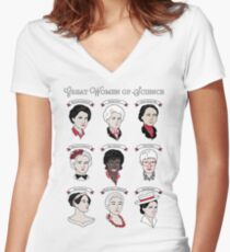 Great Women of Science {Set} Women's Fitted V-Neck T-Shirt