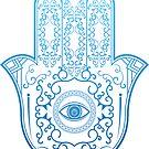 Hamsa. Hand of Fatima. by J. Reshetnikov