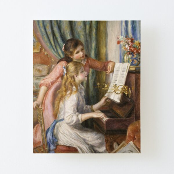 Pierre-Auguste Renoir - Young Girls at the Piano Canvas Mounted Print