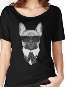 French Bulldog In Black Women's Relaxed Fit T-Shirt