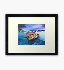 Boats of Colour Framed Print