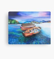 Boats of Colour Metal Print