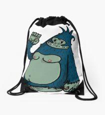 Waving Funny Gorilla Drawstring Bag