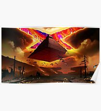 Floating Pyramid of Doom Poster