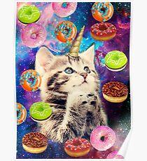 donut cat Poster