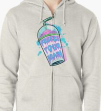 Freeze Your Brain Zipped Hoodie