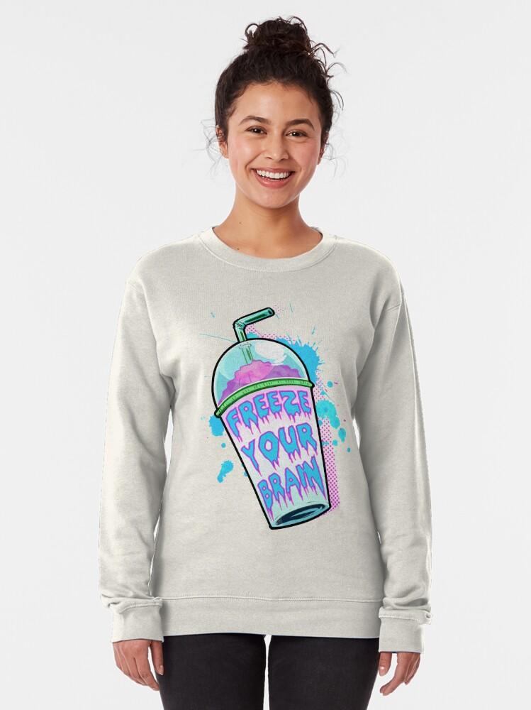 Alternate view of Freeze Your Brain Pullover Sweatshirt