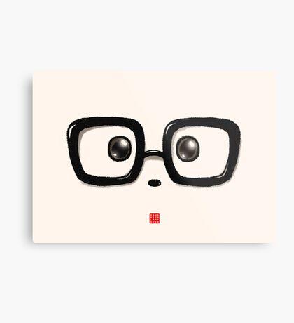 Geek Chic Panda Eyes Metal Print