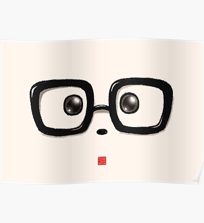 Geek Chic Panda Eyes Poster