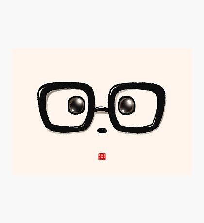 Geek Chic Panda Eyes Photographic Print