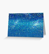 Rainbow water drops, abstract background Greeting Card