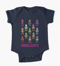 GoggleBots - robot pattern on Blue Kids Clothes