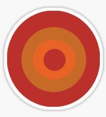 Orange Target  Sticker