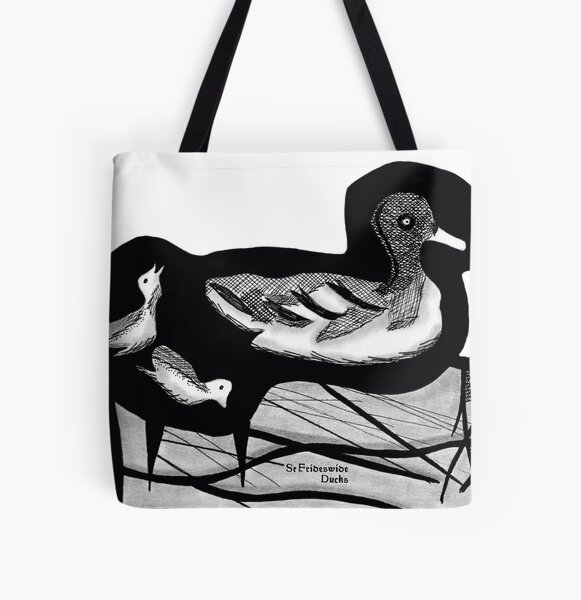 St Frideswide Ducks All Over Print Tote Bag