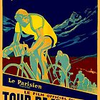 TOUR DE FRANCE; Vintage Bicycle Race Advertisment by posterbobs