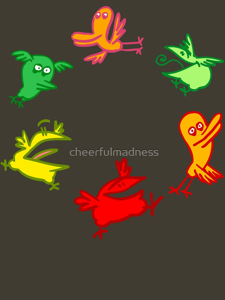 We Are The Birdies!! Cartoon Birds by Cheerful Madness!! by cheerfulmadness