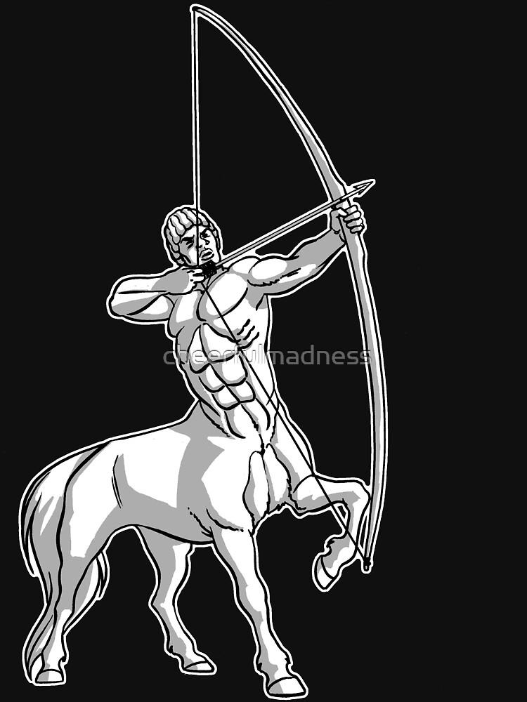 White Centaur Aiming High T-Shirt by Cheerful Madness!! by cheerfulmadness