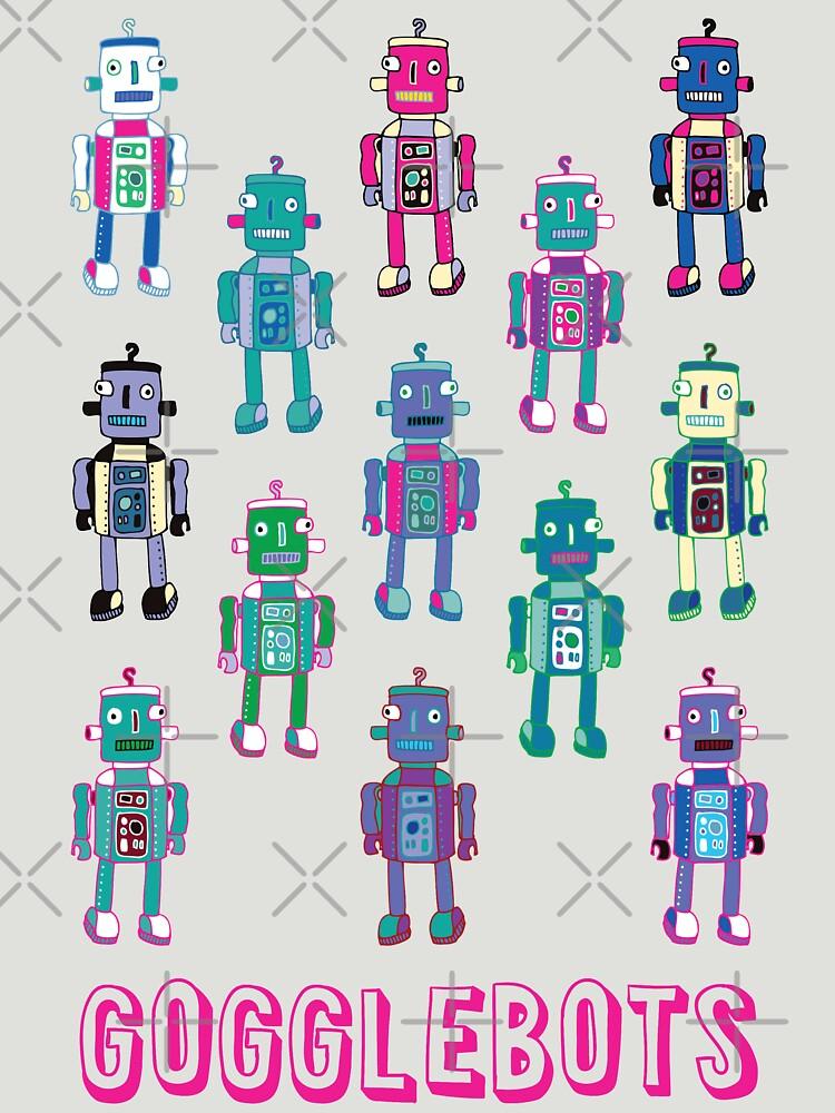 GoggleBots - robot pattern - fun pattern by Cecca Designs by Cecca-Designs