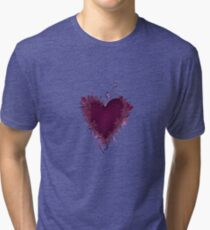 Butterfly Heart  Tri-blend T-Shirt