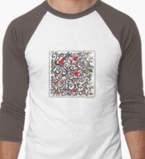 Heart Bloom Men's Baseball ¾ T-Shirt
