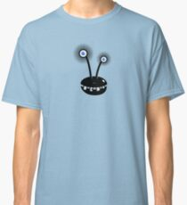 Funny Cartoon Alien With Halftone Eyes  Classic T-Shirt