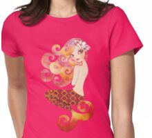 Coraleen, Mermaid in Pink Womens Fitted T-Shirt