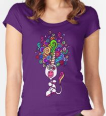 Unicorn Dream T-Shirt by Cheerful Madness!! Women's Fitted Scoop T-Shirt