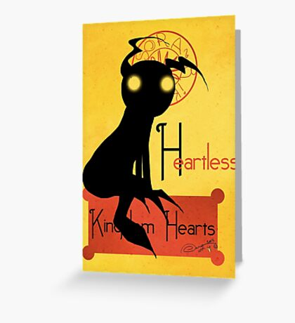 Heartless noir Greeting Card