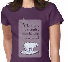 le bear polar - speech bubble/lilac Womens Fitted T-Shirt