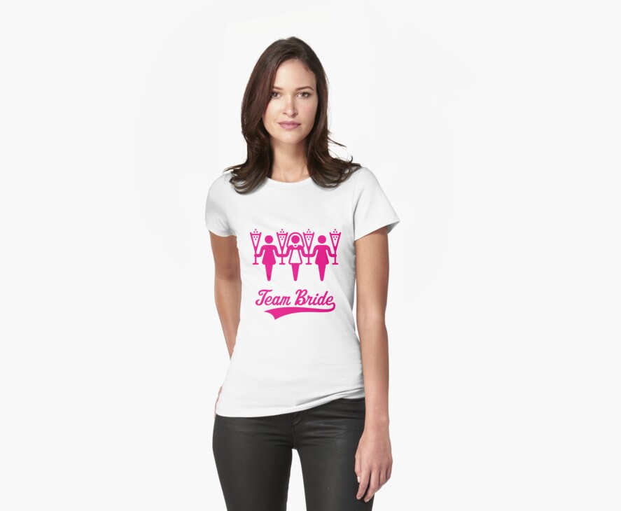 Team Bride (Bachelorette Party / Pink) by MrFaulbaum