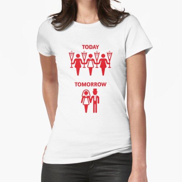 Aujourd'hui - Demain (Poule / Rouge) T-shirt moulant