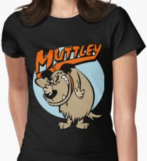 Muttley Laughing Womens Fitted T-Shirt