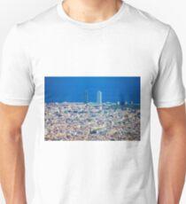 Barcelona City, Drone View Unisex T-Shirt