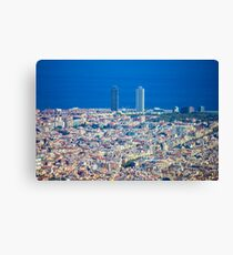 Barcelona City, Drone View Canvas Print