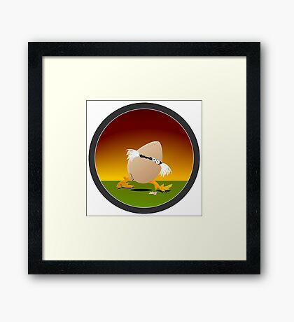 Precocious Chicken VRS2 Framed Print