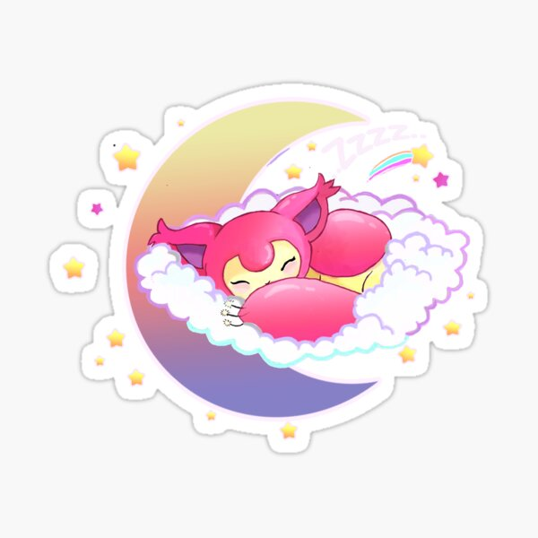 skitty snoozing Sticker